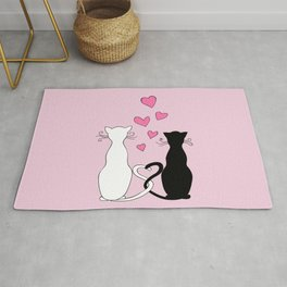 Cats with Love Rug