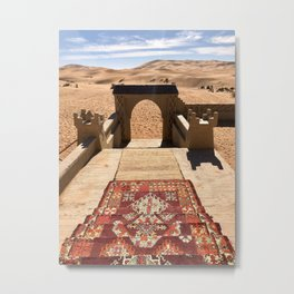 Magic Carpet, Sahara Desert, Morocco Metal Print