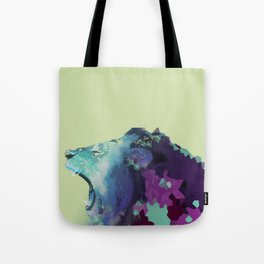 Colorful Geometric Lion Tote Bag