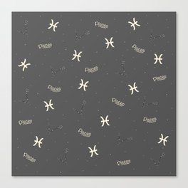 Pisces Pattern Canvas Print