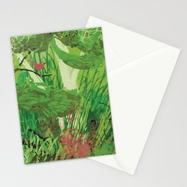 Spring Bird in a Tree Stationery Cards