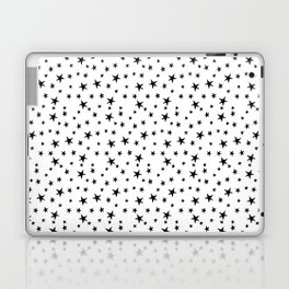 Mini Stars - Black on White Laptop & iPad Skin