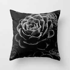 Succulents in the Shadows Throw Pillow