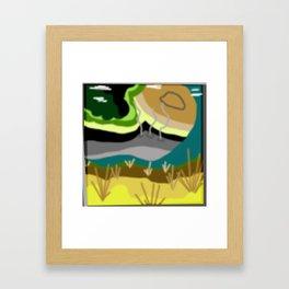 HarvestFest Alien Field Framed Art Print