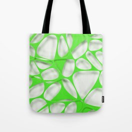Green on white, organic abstraction Tote Bag