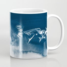 Building the Universe:  A minimal abstract acrylic painting in blue and white by Alyssa Hamilton Coffee Mug