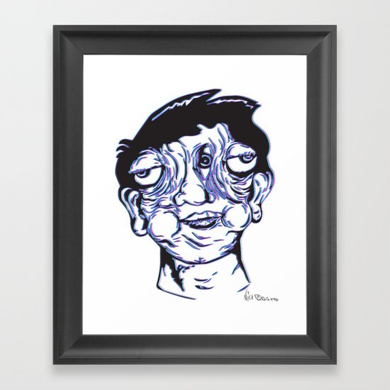Please Place 3-D Glasses over your vision balls  Framed Art Print