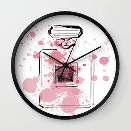 Pink Perfume #7 Wall Clock