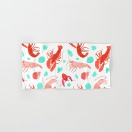 Dance of the Crustaceans in Pearl White Hand & Bath Towel