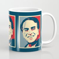 carl sagan Mugs featuring Carl Sagan 'Hope' by cvrcak