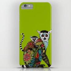 ring tailed lemur love lime Slim Case iPhone 6 Plus