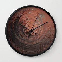 Copper Vortex Wall Clock