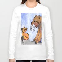 gift card Long Sleeve T-shirts featuring Gift by Sparki Wolf