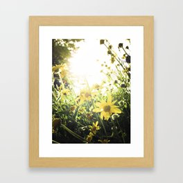 LUV IN THE SUN Framed Art Print