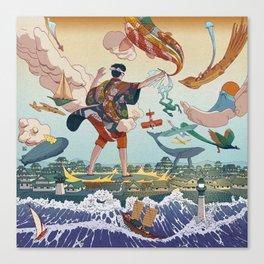 Ukiyo-e tale: The legend Canvas Print