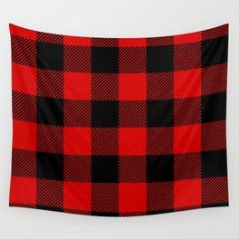Red Lumberjack Pattern Wall Tapestry