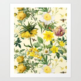 YELLOW GARDEN Art Print