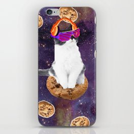 Rave Kitty Cat On Choc Cookie In Space iPhone Skin
