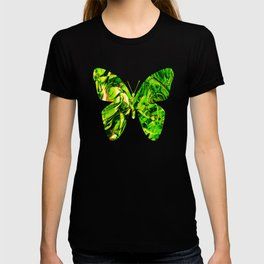 Fluid Butterfly (Green Version) T-shirt