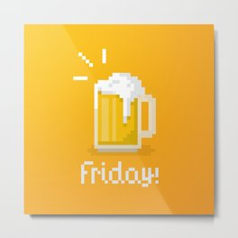 Pixel Friday Metal Print