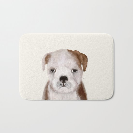 little bulldog Bath Mat