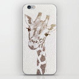 The Intellectual Giraffe iPhone Skin