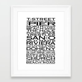 San Clemente Beaches & More Framed Art Print