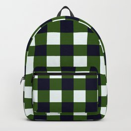 Dark Green Checkerboard Pattern Backpack