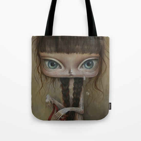 Girl with tattoo 2 Tote Bag