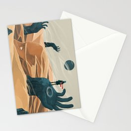 The wanderer and the desert portals Stationery Cards