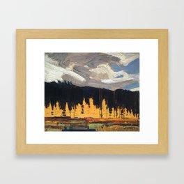 Tom Thomson - Tamarack Swamp - Canada, Canadian Oil Painting - Group of Seven Framed Art Print
