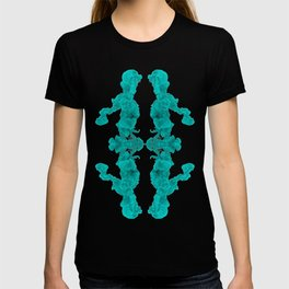 08aab6507763 Cyan Ink Drop In Water T-shirt