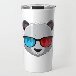 Party Animal DJ Pandas Music Party Beat Sunglasses Travel Mug
