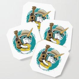 Guitar Unicorn - Guitarist Musician Magic Horse Coaster