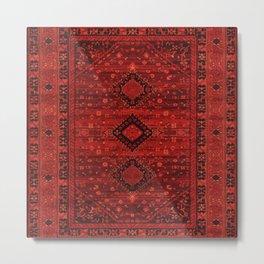 N102 - Oriental Traditional Moroccan & Ottoman Style Design. Metal Print