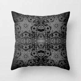 Black Gothic Stars Throw Pillow