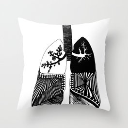 Particle Filtration - Lungs - Respiratory System Throw Pillow