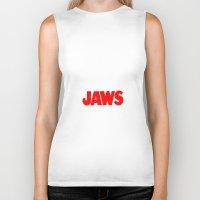 jaws Biker Tanks featuring Jaws by IIIIHiveIIII