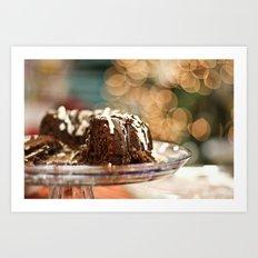 KAHLUA CHRISTMAS CAKE Art Print