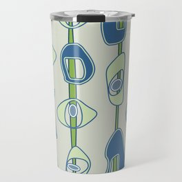 Mod Blobs in blue and greens Travel Mug