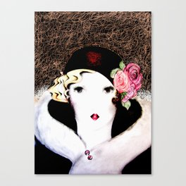 art deco dolly,,,house of harlequin Canvas Print