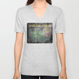 Old School Periodic Table Of Elements - Chalkboard Style Unisex V-Neck
