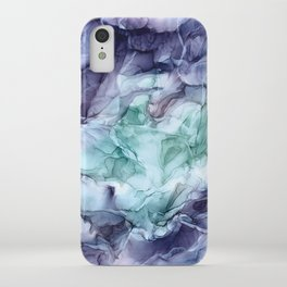 Growth- Abstract Botanical Fluid Art Painting iPhone Case