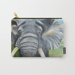 Elephant, Male Elephant Painting Carry-All Pouch