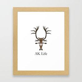 AK Life Caribou Framed Art Print
