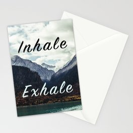 Inhale Exhale Stationery Cards