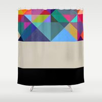 prism Shower Curtains featuring Prism 1 by Georgiana Paraschiv