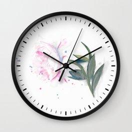 Peony Wall Clock