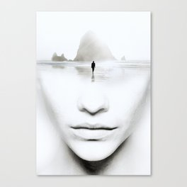 in thoughts Canvas Print