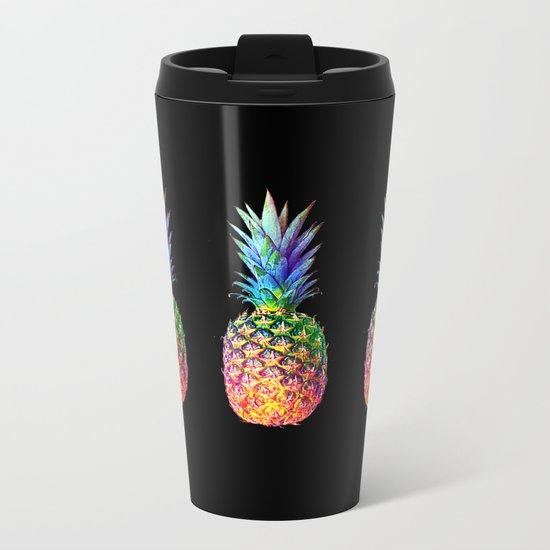 iridescent pineapple Metal Travel Mug
